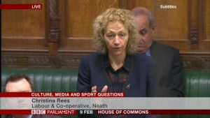 Question to The Parliamentary Under-Secretary of State for Culture, Media and Sport
