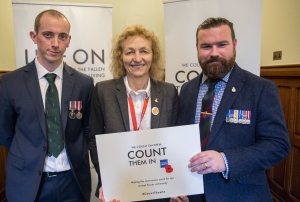 Christina Rees MP Meets Area Manager from The Royal British Legion