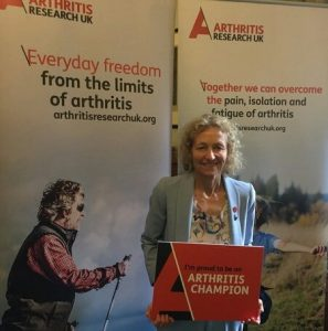 Christina Rees pledges to become an Arthritis Champion for Neath.