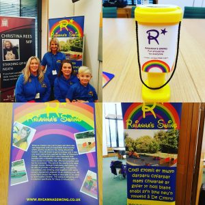 Rhianna's swing visits Parliament