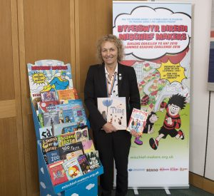 Christina Rees MP supports Neath campaign for every child to join local library and share a love of reading