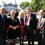 Christina and Labour MP colleagues Carolyn Harris (MP for Swansea East), Gerald Jones (MP for Merthyr and Rhymney), Nick Thomas-Symonds (MP for Torfaen) and David Hanson (MP for Delyn) as we wait to enter Parliament for the Queen's Speech 2015